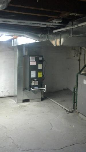 Amana Air Handler with Custom Ductwork Installation